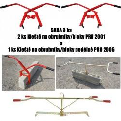 Kleště na obrubníky/bloky PRO 2001 a PRO 2006 - sada 3 ks